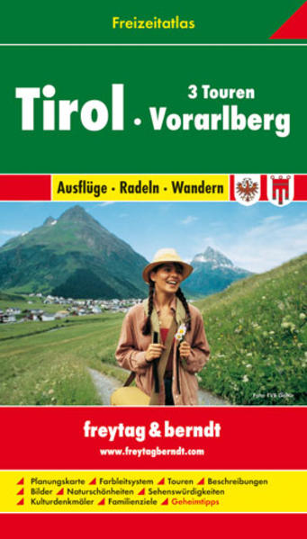 Tirol - Vorarlberg, Freizeitatlas 1:50.000 - 1:200.000 - Coverbild