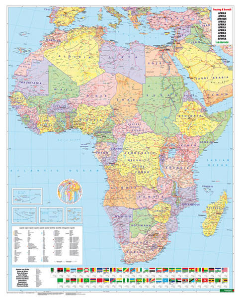 Afrika physisch-politisch, Magnetmarkiertafel - Coverbild