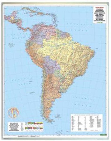 Südamerika physisch-politisch, Magnetmarkiertafel - Coverbild