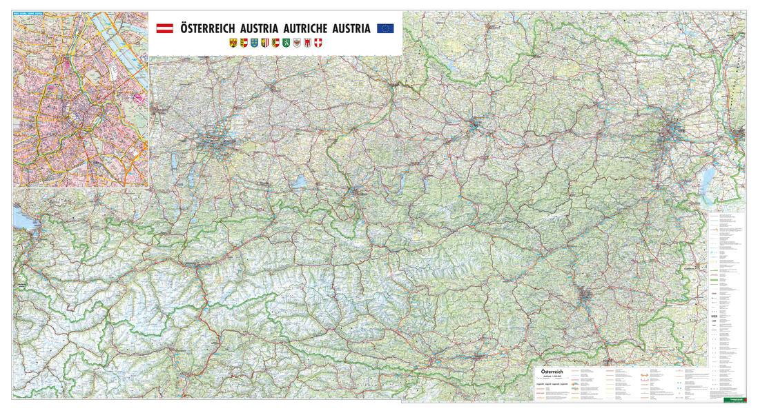 Österreich physisch, 1:300.000, Doppelformat, Magnetmarkiertafel - Coverbild