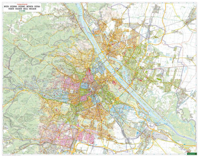 Wien Wandplan, 1:15.000, Poster - Coverbild