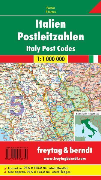 Italien Postleitzahlen, 1:1 Mill., Magnetmarkiertafel - Coverbild