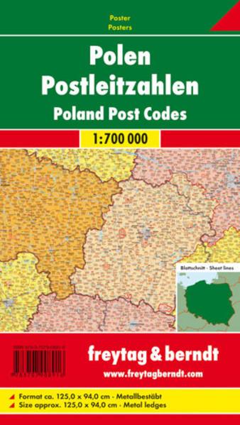 Polen Postleitzahlen, 1:700.000, Markiertafel - Coverbild