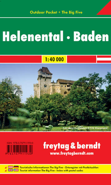 WK 012 OUP Helenental - Baden, Outdoor Pocket, Wanderkarte 1:40.000 - Coverbild