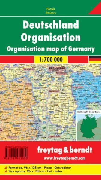 Deutschland Organisation, 1:700.000, Magnetmarkiertafel - Coverbild