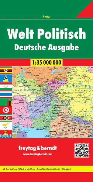 Welt politisch, deutsch, 1:35. Mill., Magnetmarkiertafel - Coverbild