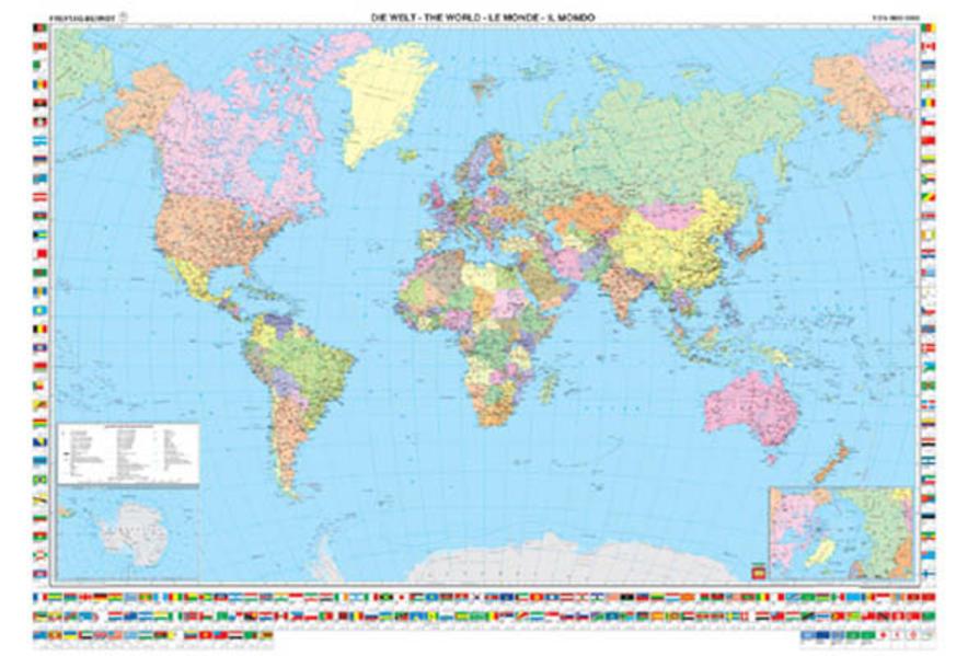 Welt politisch (International), 1:35 Mill., Markiertafel - Coverbild