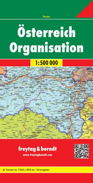 Österreich Organisation, 1:500.000 - Coverbild