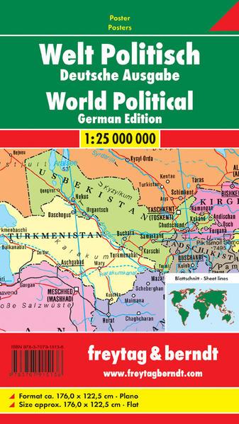 Welt politisch (Deutsche Ausgabe), Großformat, 1:25 Mill., Markiertafel - Coverbild