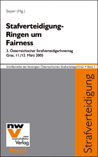 Strafverteidigung – Ringen um Fairness - Coverbild