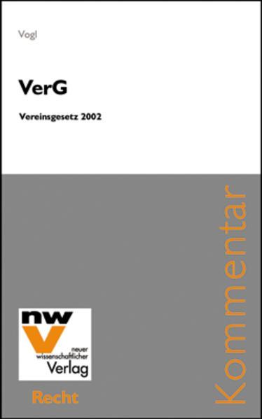 VerG - Vereinsgesetz 2002 - Coverbild