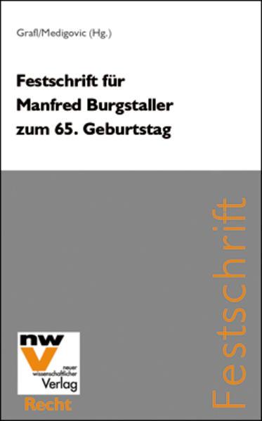 Festschrift für Manfred Burgstaller zum 65. Geburtstag - Coverbild