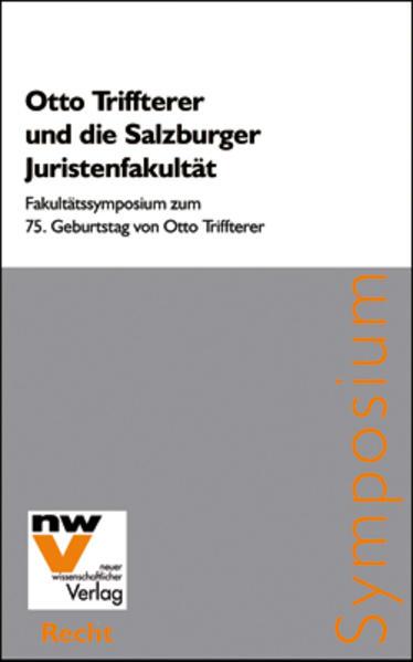 Otto Triffterer und die Salzburger Juristenfakultät - Coverbild