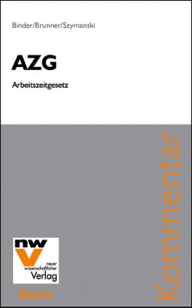 AZG Arbeitszeitgesetz - Coverbild