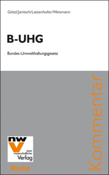 B-UHG Bundes-Umwelthaftungsgesetz - Coverbild