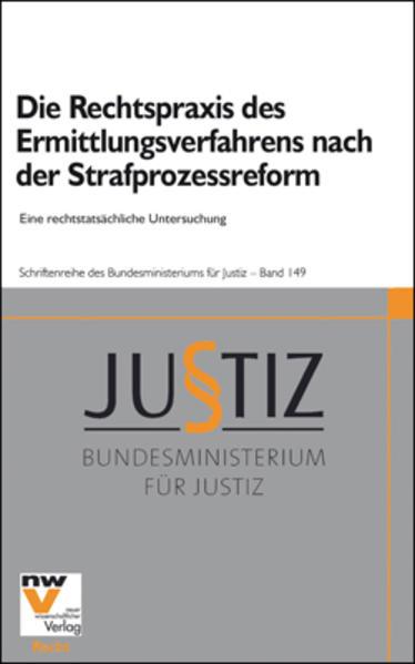 Die Rechtspraxis des Ermittlungsverfahrens nach der Strafprozessreform - Coverbild