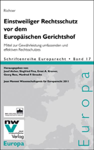 Einstweiliger Rechtsschutz vor dem Europäischen Gerichtshof - Coverbild