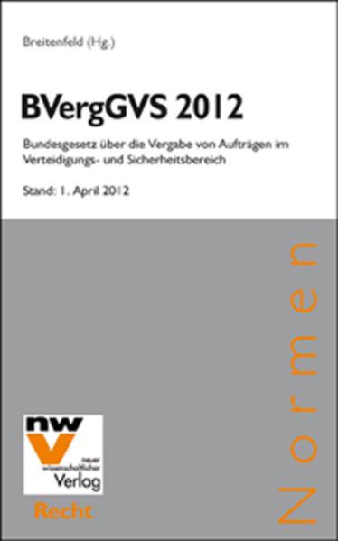 BVergGVS 2012 - Coverbild