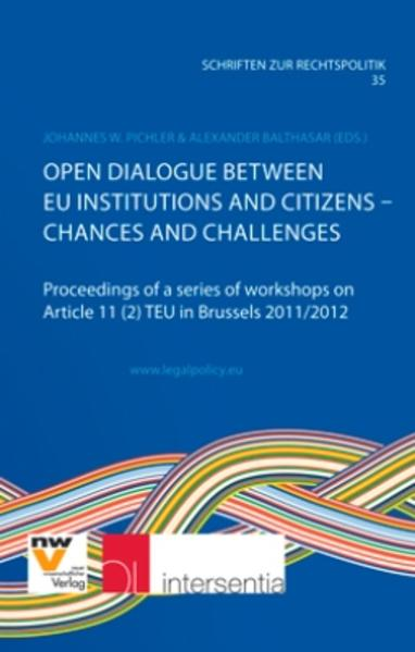 Open Dialogue between EU Institutions and Citizens – Chances and Challenges - Coverbild