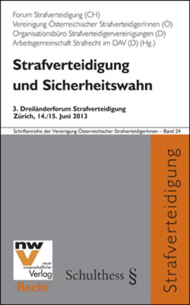 Strafverteidigung und Sicherheitswahn - Coverbild