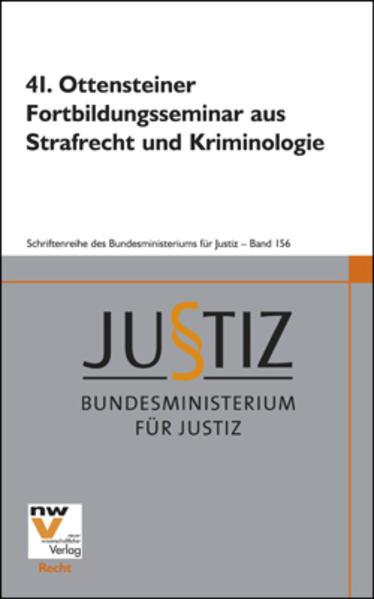 41. Ottensteiner Fortbildungsseminar aus Strafrecht und Kriminologie - Coverbild