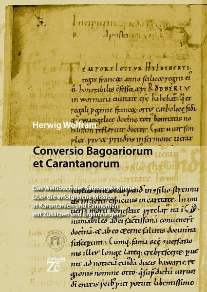 Conversio Bagoaiorum et Carantanorum - Coverbild