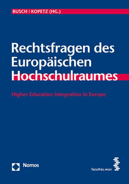 Rechtsfragen des Europäischen Hochschulraumes - Coverbild