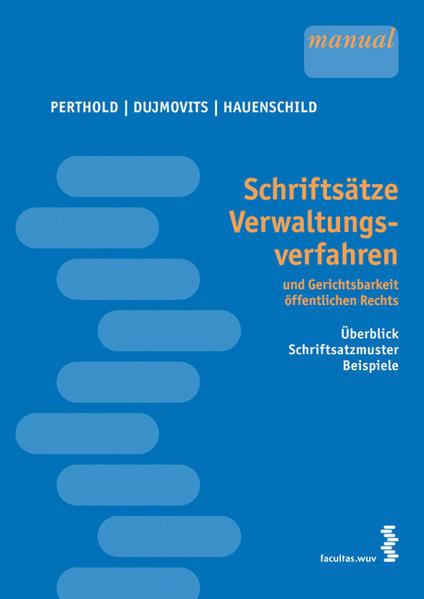 Schriftsätze Verwaltungsverfahren und Gerichtsbarkeit öffentlichen Rechts - Coverbild