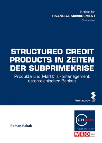 Structured Credit Products in Zeiten der Subprimekrise - Coverbild