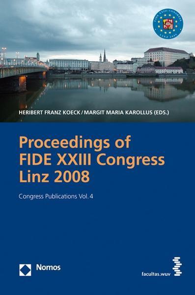Proceedings of the FIDE XXIII Congress Linz 2008 - Coverbild