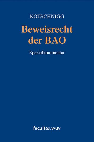 Beweisrecht der BAO - Coverbild