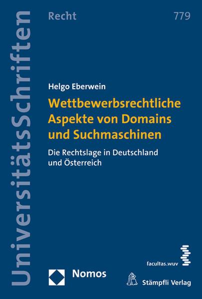 Wettbewerbsrechtliche Aspekte von Domains und Suchmaschinen - Coverbild