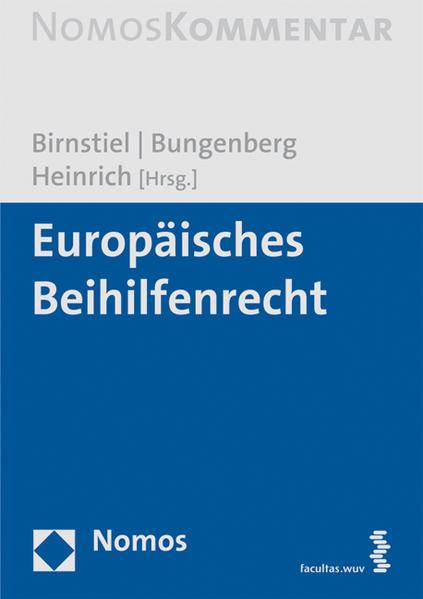 Europäisches Beihilfenrecht - Coverbild