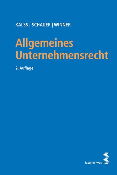 Allgemeines Unternehmensrecht - Coverbild