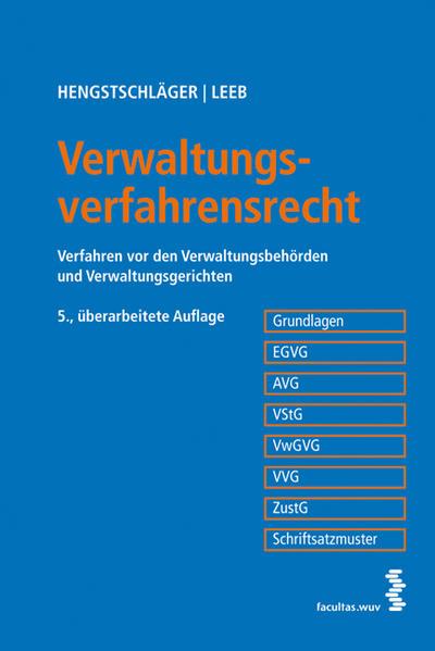 Verwaltungsverfahrensrecht - Coverbild