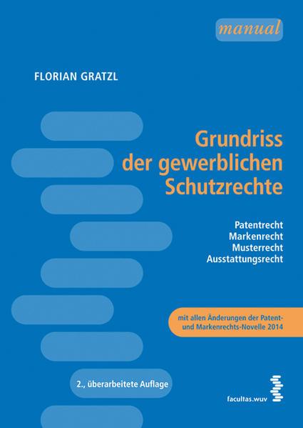 Grundriss der gewerblichen Schutzrechte - Coverbild