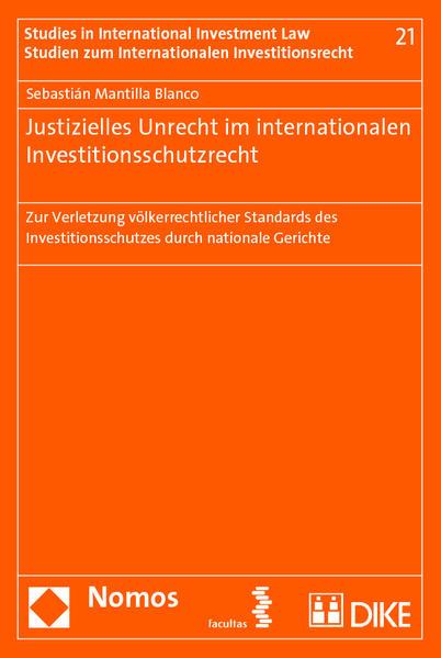 Justizielles Unrecht im internationalen Investitionsschutzrecht - Coverbild