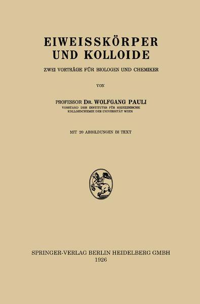 Eiweisskörper und Kolloide - Coverbild