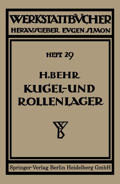Kugel- und Rollenlager (Wälzlager) - Coverbild
