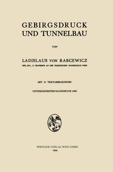 Gebirgsdruck und Tunnelbau - Coverbild
