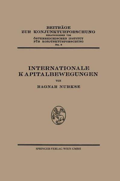 Internationale Kapitalbewegungen - Coverbild