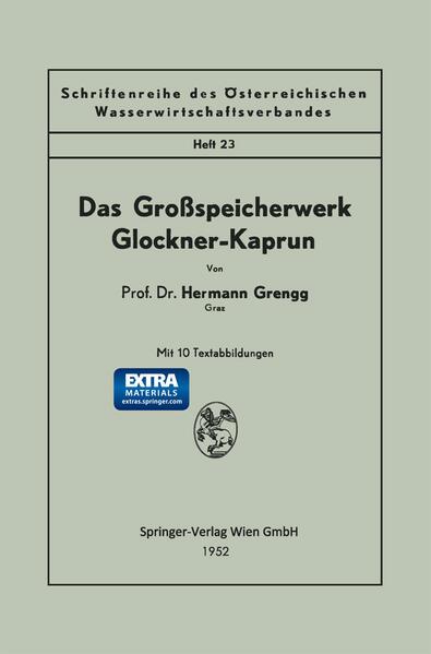 Das Großspeicherwerk Glockner-Kaprun - Coverbild