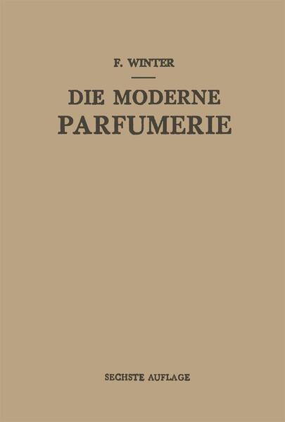 Die Moderne Parfumerie - Coverbild