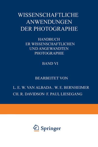 Wissenschaftliche Anwendungen der Photographie - Coverbild