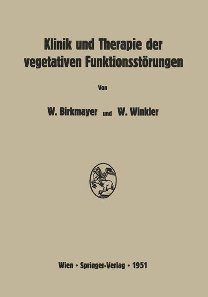 Klinik und Therapie der vegetativen Funktionsstörungen - Coverbild