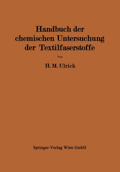 Handbuch der chemischen Untersuchung der Textilfaserstoffe - Coverbild