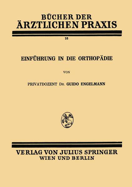 Einführung in die Orthopädie - Coverbild