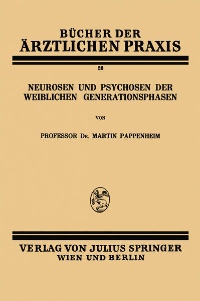 Neurosen und Psychosen der Weiblichen Generationsphasen - Coverbild