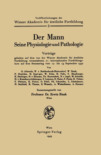 Der Mann Seine Physiologie und Pathologie - Coverbild