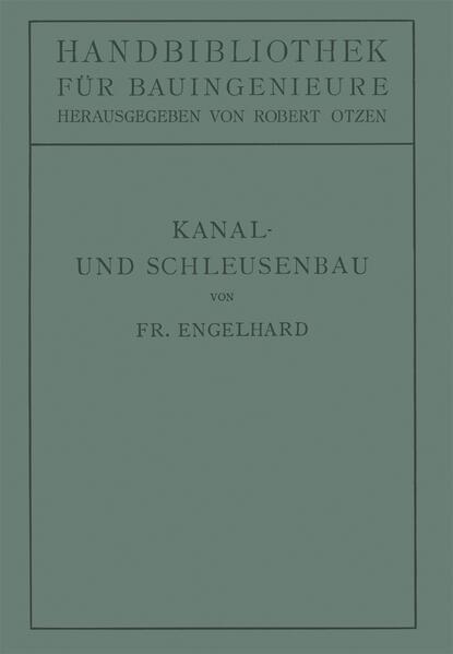 Kanal- und Schleusenbau - Coverbild